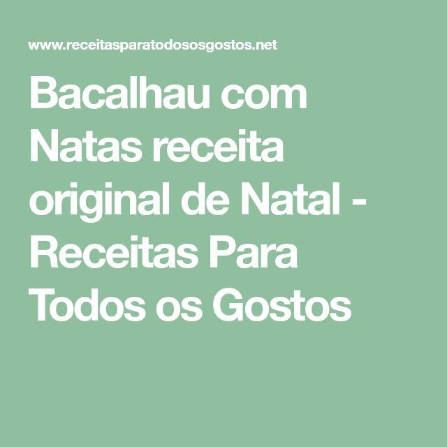 Bacalhau com Natas receita original de Natal - Receitas Para Todos os Gostos