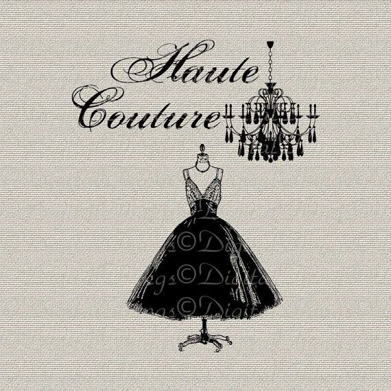 french fashion chandelier haute couture 1950 dress digital download for iron on transfer fabric. Black Bedroom Furniture Sets. Home Design Ideas