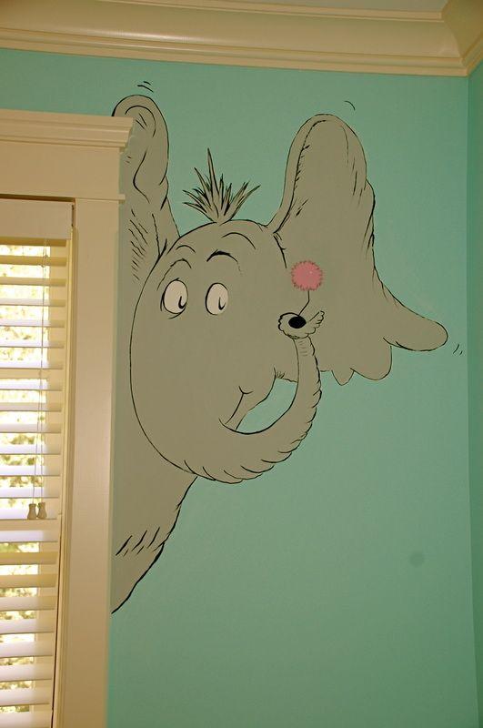 17 best ideas about dr seuss nursery on pinterest for Dr seuss mural