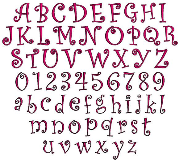80 Cute Girly Fonts Alphabet Tumblr Cute Girly Fonts Tagged