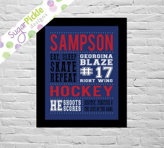 Looking for something personalized for your little hockey player? Needing something for a hockey player as a gift? Or ev