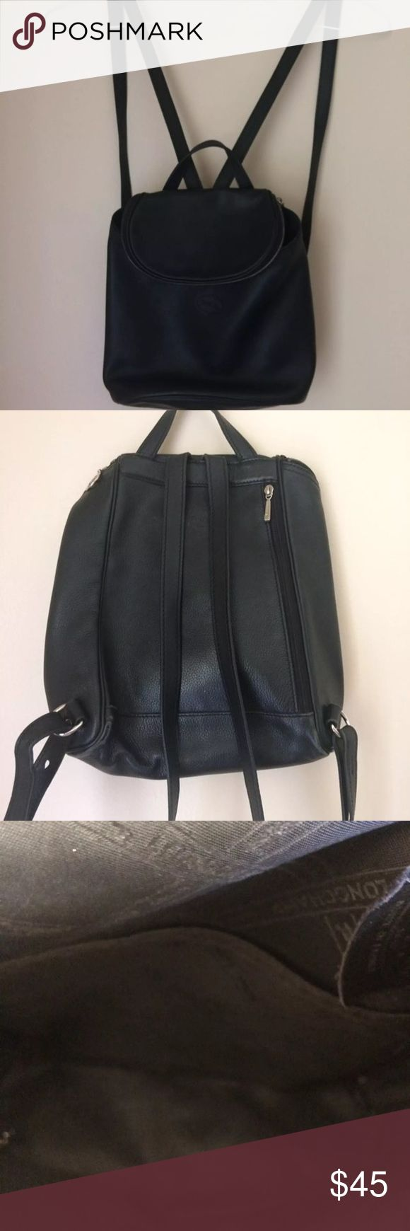 Longchamp backpack In good condition the zipper sometimes messes up but it usually works the inside is clean the bottom of the side has some wear, nothing too bad Longchamp Bags Backpacks