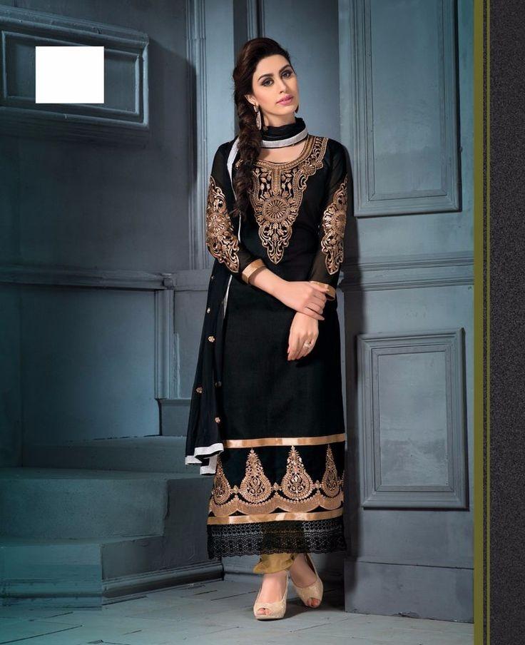 Indian Bollywood Ethnic Designer Anarkali Salwar Kameez Suit Traditional fr NRI #Indian #SalwarKameez #TraditionalWeddingPartyWearCasual