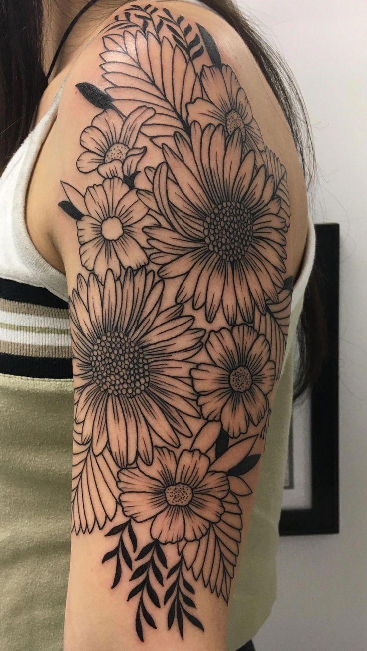 half sleeve tattoos designs #Halfsleevetattoos #bestgirltattoos #tattoo #tattoos…   – Einfache linien