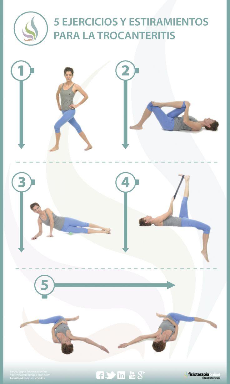 5 ejercicios y estiramientos para la troncanteritis o bursitis trocantérea