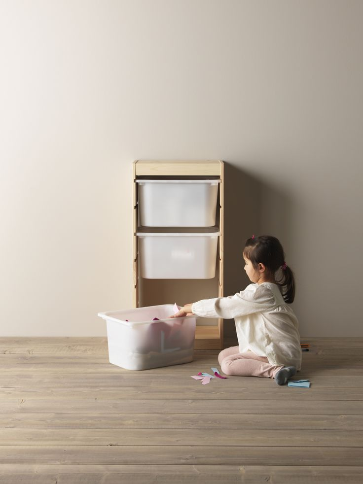 TROFAST opbergcombinatie met bakken | #IKEAcatalogus #nieuw #2017 #IKEA #IKEAnl #opbergen #combinatie #opruimen #woonoplossing #speelgoed #woonkamer #kinderen