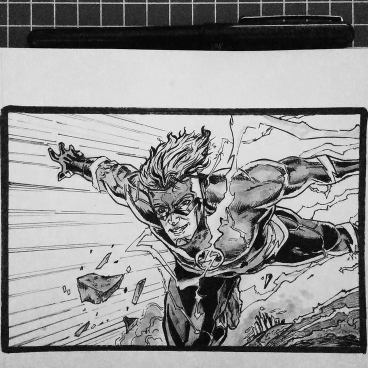 Day 9 Wally West (THE FLASH) #inktoberday9  #inktober2017 #inktober  #inktoberindonesia2017 #drawing #ink #sketch #pencil #inkwash #inktoberindonesia #comic #dccomics #theflash #titans #justiceleague #wallywest #whuss