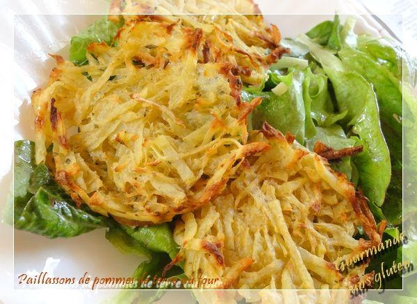 Gourmande sans gluten: Paillassons de pommes de terre au four