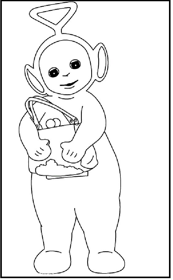teletubbies tinky winky coloring pages for kids printable teletubbies coloring pages for kids - Teletubbies Dipsy Coloring Pages
