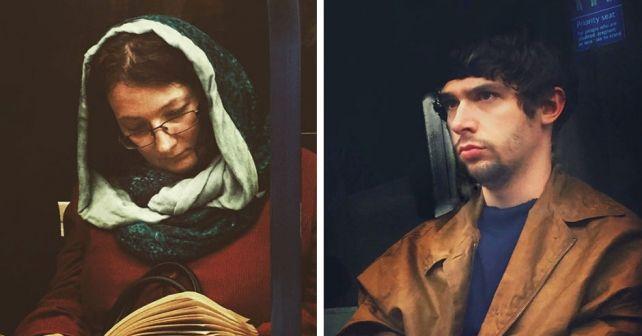 Парень тайно фотографирует пассажиров метро в стиле картин 16-го века. Получается обалденно! #лайфхаки #технологии #вдохновение #приложения #рецепты #видео #спорт #стиль_жизни #лайфстайл