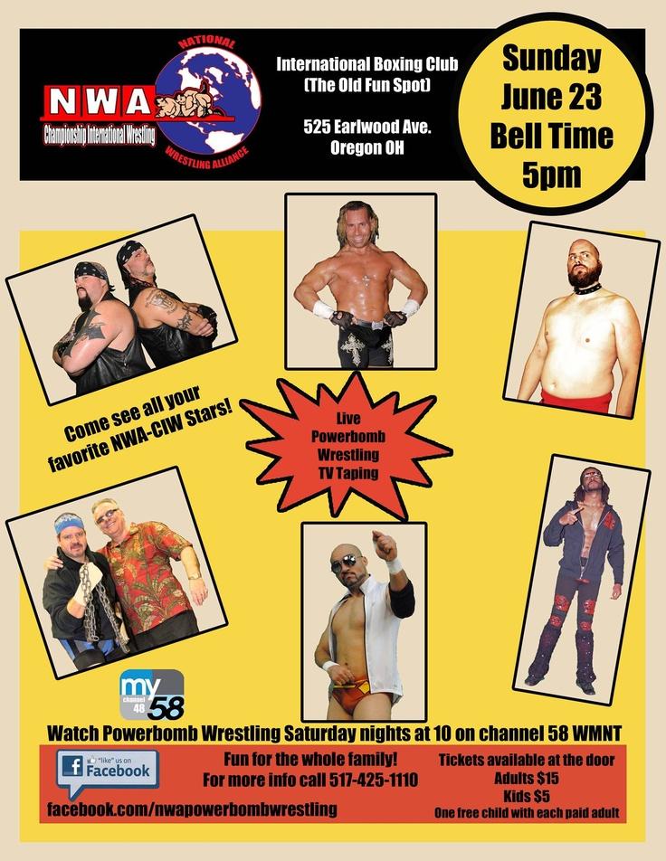 Poster we designed for National Wrestling Association NWA member Championship International Wrestling for their next show  http://www.nerdydesigns.com