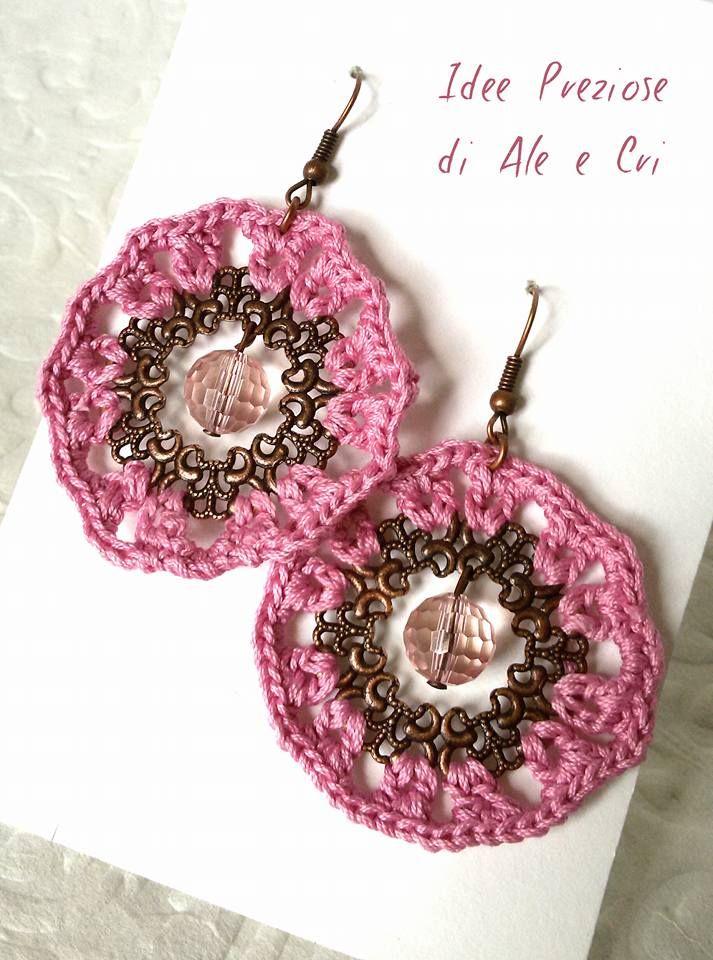Orecchini all'uncinetto / crochet earrings 'Idee Preziose di Ale e Cri'
