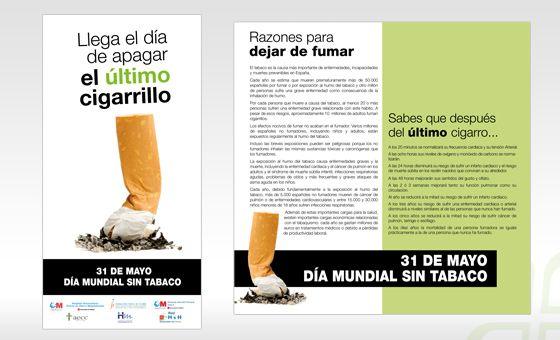 Tr ptico d a mundial sin tabaco hospital puerta de hierro for Cuarto dia sin fumar