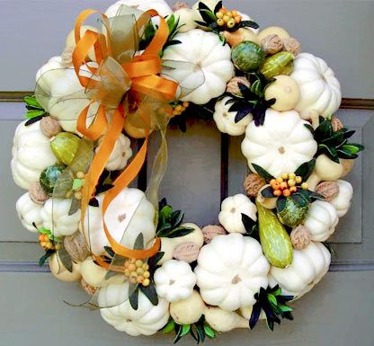 """Still Waters--Notes from a Virginia Shire: """"Autumn Wreaths"""" Photo: www.creativedecorations.com"""