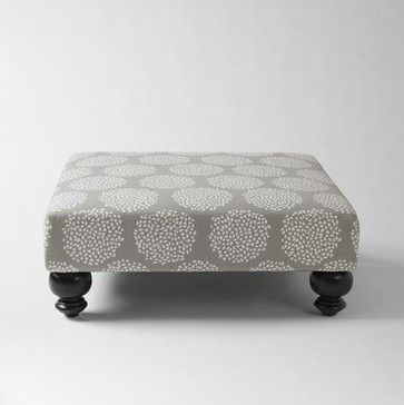 Essex Printed Ottoman, Platinum - contemporary - ottomans and cubes - West Elm