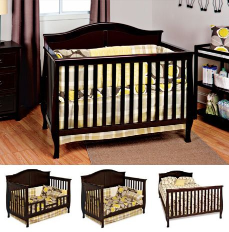 #crib The Camden™ crib features soft arched top, detailed cap rails, and flared legs. Single dresser with framed and recessed drawer panels make the Camden collection the perfect addition to any nursery.