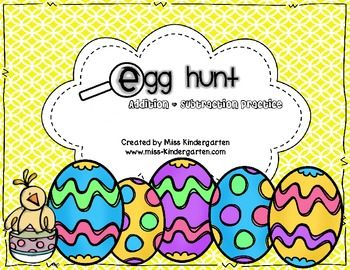 Egg Hunt- Addition and Subtraction- free!