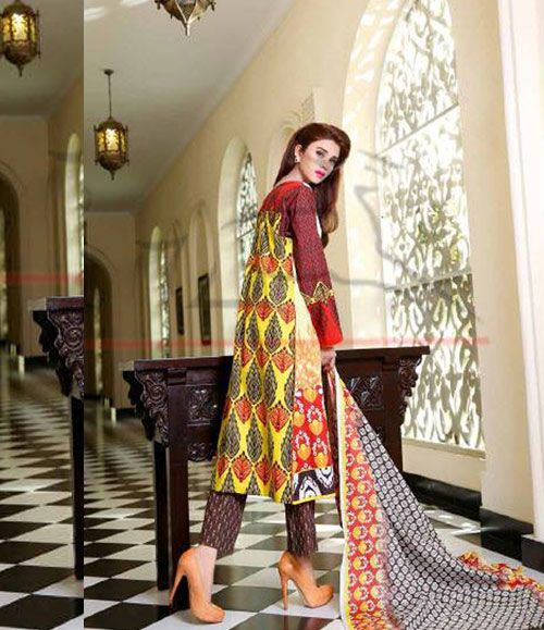 Lala Classic Cotton Embroidered lawn Suits Vol 1. CCE_03A