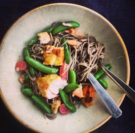 Evening Standard Column – Miso salmon and sesame soba noodles | Rachel Khoo