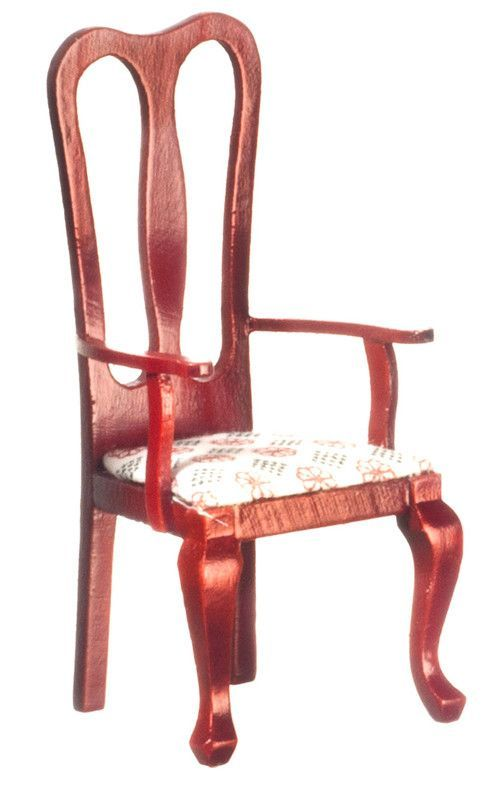 Victorian Dining Room Armchair - Mahogany with white