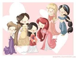 princesas da disney chibi - Pesquisa Google