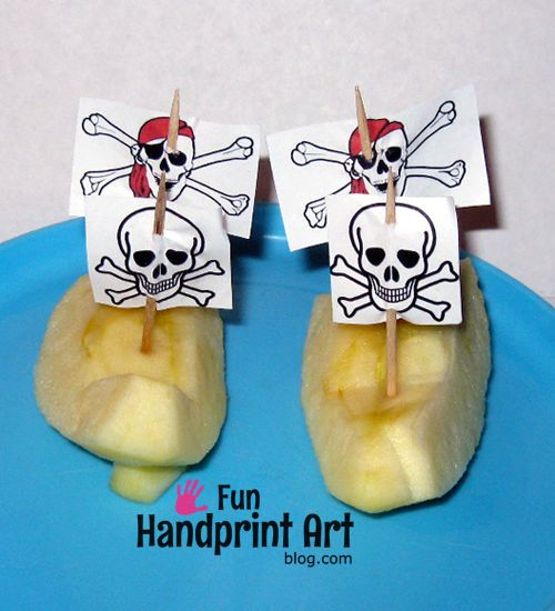 Apple Pirate SHips | Fun Food Idea for Talk Like a Pirate Day