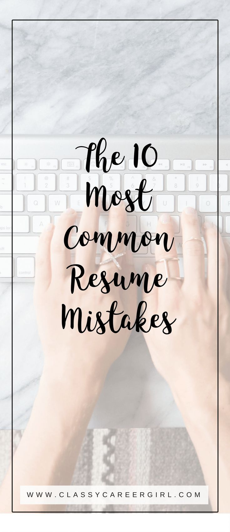 I know resumes are boring and they are the last thing that you want to work on with your free time. But, trust me...you need to. Over the last week I reviewed over 20 resumes of the students in my career development class. I saw the same mistakes over and over again so I wanted to share with you the most common resume mistakes that I see so that you DON'T make them.
