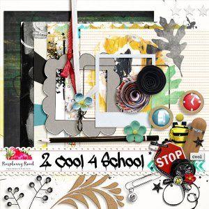 Monday's Guest Freebies ~ Raspberry Road * Follow the Free Digital Scrapbook board for daily freebies: https://www.pinterest.com/sherylcsjohnson/free-digital-scrapbook/ * Visit GrannyEnchanted.Com for thousands of digital scrapbook freebies. * 2 Cool 4 School Freebie