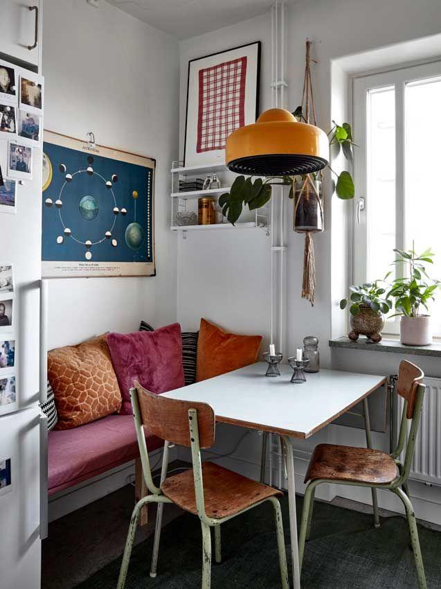 Retro Apartment, Stockholm Apartment, Vintage Apartment Decor, Small Cozy Apartment, Apartment Kitchen, 70s Decor, The Apartment, Apartment Interior, Tiny Apartment Living