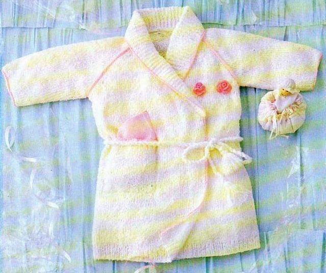 tuto tricot peignoir bébé http://la.boutique.du.tricot.over-blog.com/article-37097516.html