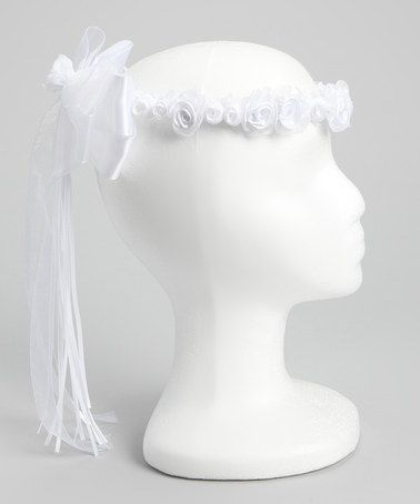 Take a look at this Kid's Dream White Flower Bow Halo by Kid's Dream on #zulily today!