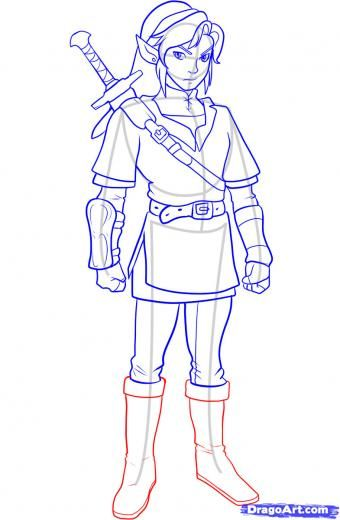 How To Draw link Step 10 How to Draw Link from Zelda