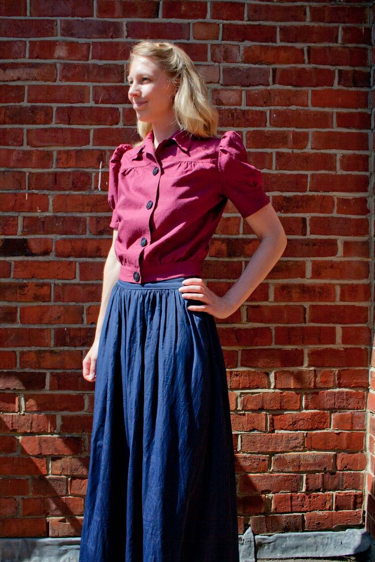 Renée And The Cat's Meow: Finished: Early 1940s Blouse - Simplicity 3364 Pattern Hack