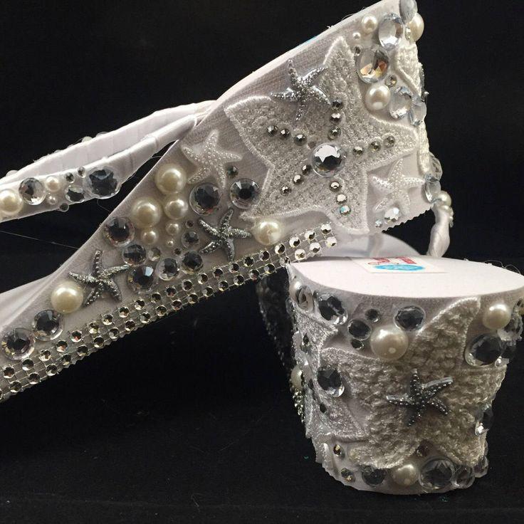 Excited to share the latest addition to my #etsy shop: Mariel Bridal Flip Flops, Custom Wedge Flip Flops, Starfish Platform Sandals Bridal Wedge Sandals Bling Flip Flops Wedding Shoes