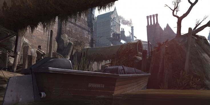 "Dishonored (Arkane Studios, 2012)""Safe Harbour""Tools and tricks: Custom 3:4 and 2:1 aspect ratios @ ~6K, Sunbeam's Cheat Engine table, noclip, timestop, custom FOV."