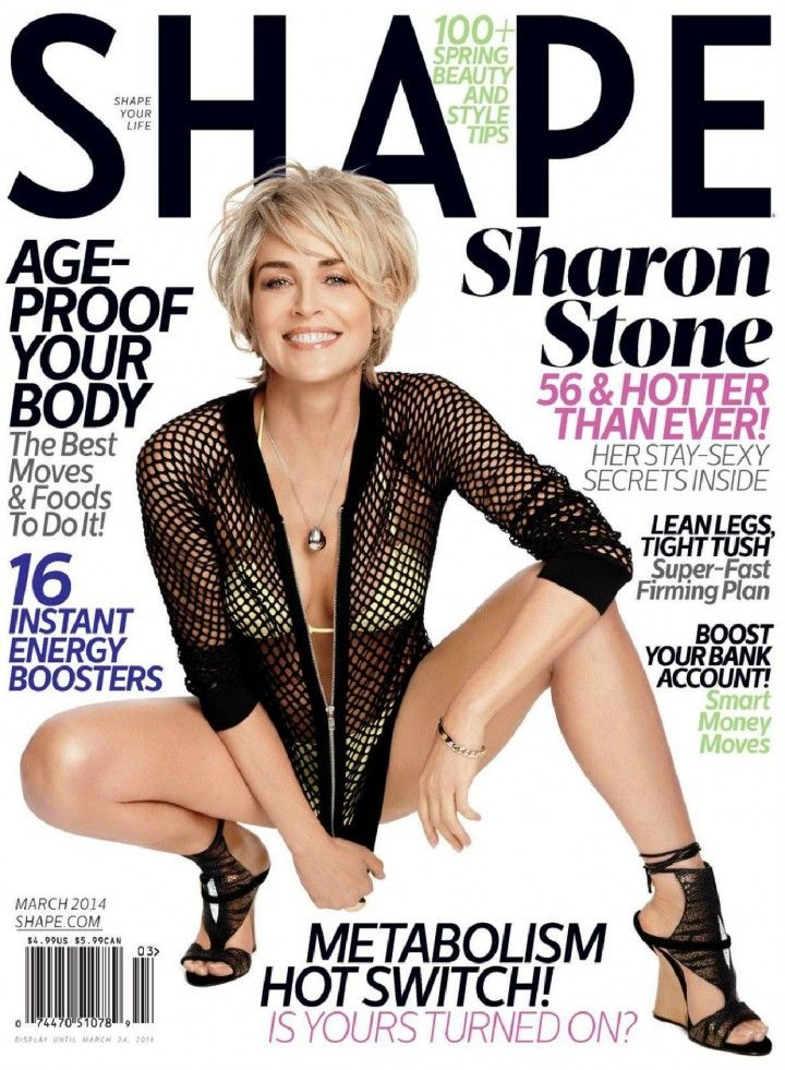 Anyway, Sharon covers the new issue of Shape, and at 56, she's still comfortable enough to wear a bikini on the cover. Description from celebitchy.com. I searched for this on bing.com/images