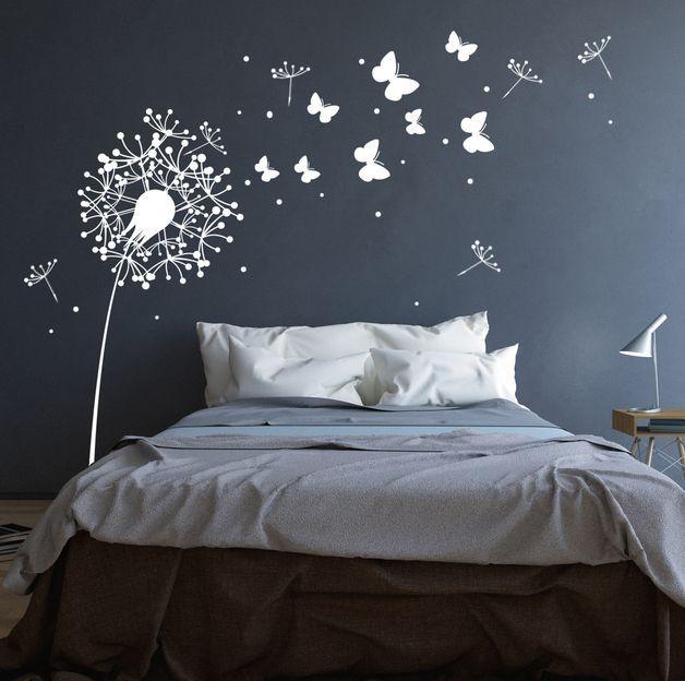 100% Rauhfaser tauglich Hauchen sie ihren Wänden Leben ein…mit diesem Wandtattoo Pusteblume Schmetterlinge und Punkten verzaubern sie ganze Räume… *Wandtattoo Pusteblume mit süßen…
