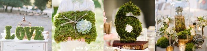 Мох в декоре свадьбы | DiscoverWedding.ru