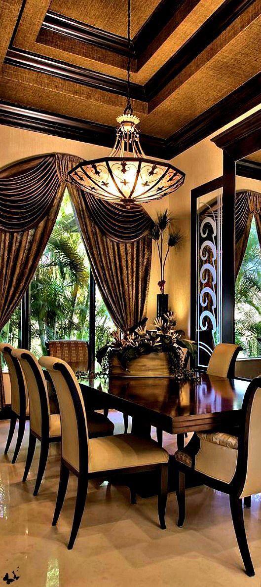 267 best dining rooms images on pinterest luxury dining for Luxury dining room decor