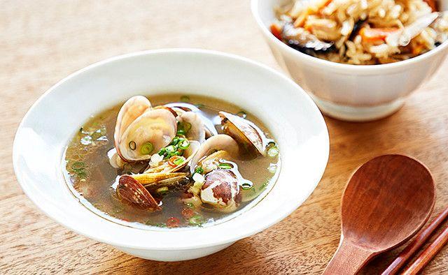 あさりの生姜スープ