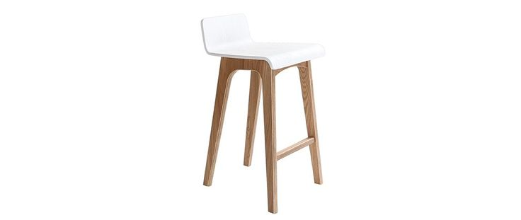 Chaise de bar en bois - 65 cm - Scandinave - BALTIK