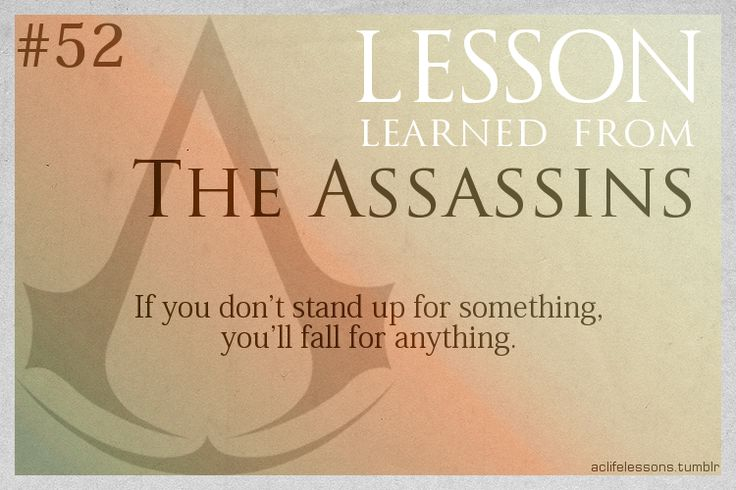 Assassin's Creed Life Lessons from The Assassins                                                                                                                                                                                 More