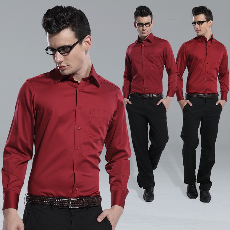 Red mens shirts black pants gen 2 18 it is not good for Black dress shirt outfit