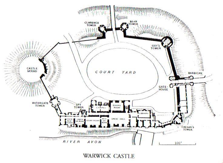 Medieval Castle Floor Plan Diagram