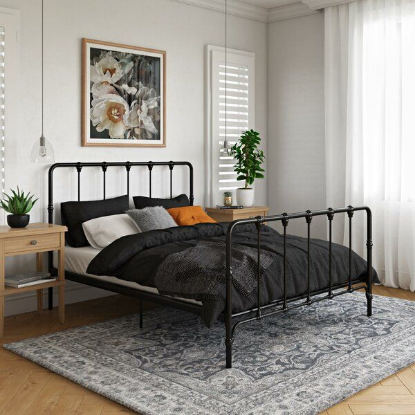 Domenica Platform Bed Metal Platform Bed Platform Bed Designs