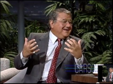 Buddy Hackett tries to keep his jokes clean on Johnny Carson's Tonight Show