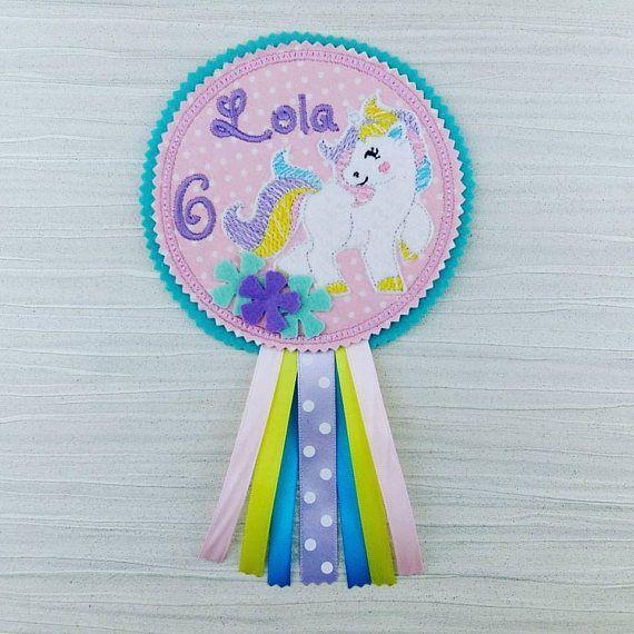 Unicorn Badge  Unicorn Birthday Badge  Rainbow Badge  Girls