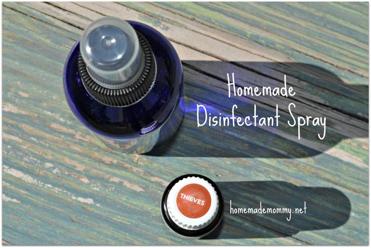 Homemade Disinfectant Spray via Homemade Mommy  To reuse the thieves spray bottle from YL:  1/8 tsp sea salt 1 oz water 5 drops thieves essential oil