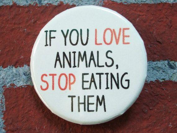 Vegetarian/Vegan Pinback Button | EatYourVegTees Etsy