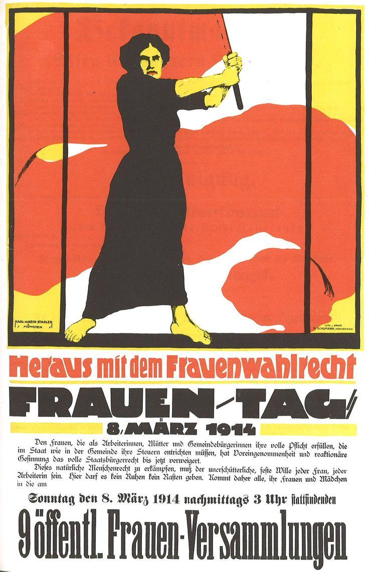 Heraus mit dem Frauenwahlrecht by Karl Maria Stadler - Wikipedia Commons
